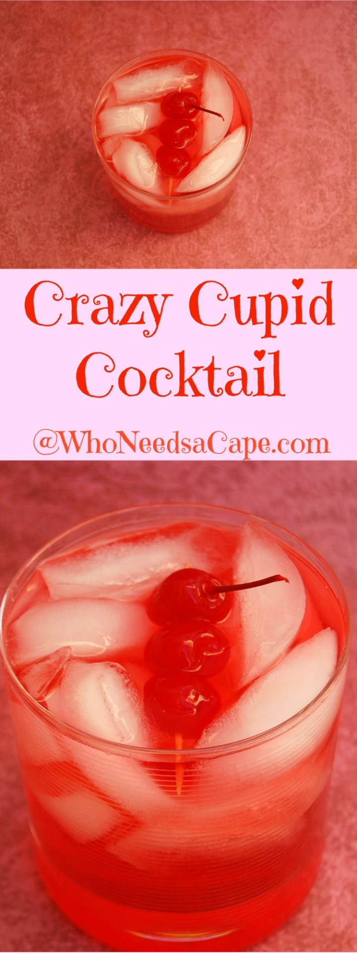 The Crazy Cupid Cocktail is a great drink. Make it with 3 ingredients! Simple Cocktail - amazing flavor!