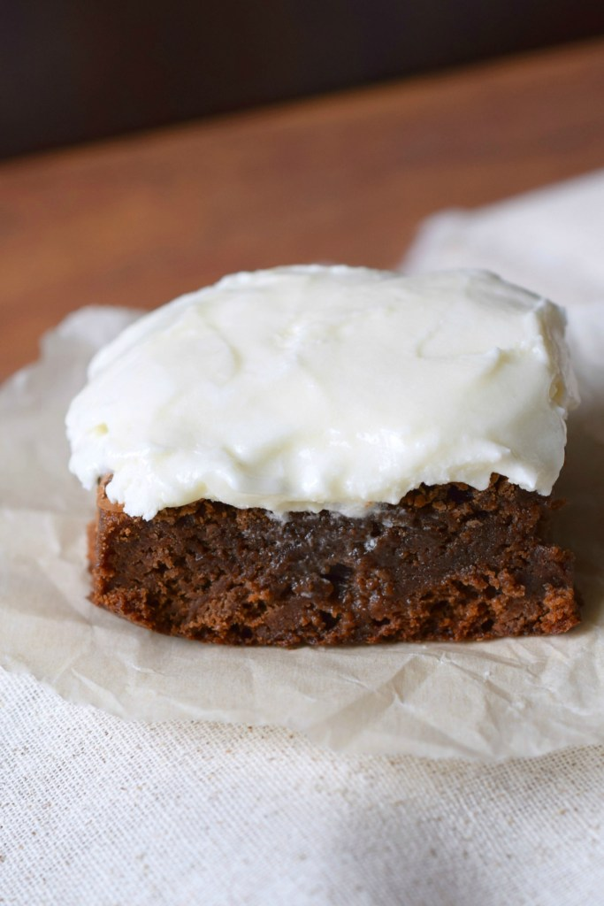 Cream Cheese Frosted Baileys Brownies the perfect compliment of flavors from the Irish Cream to cream cheese to chocolate, absolutely delicious.