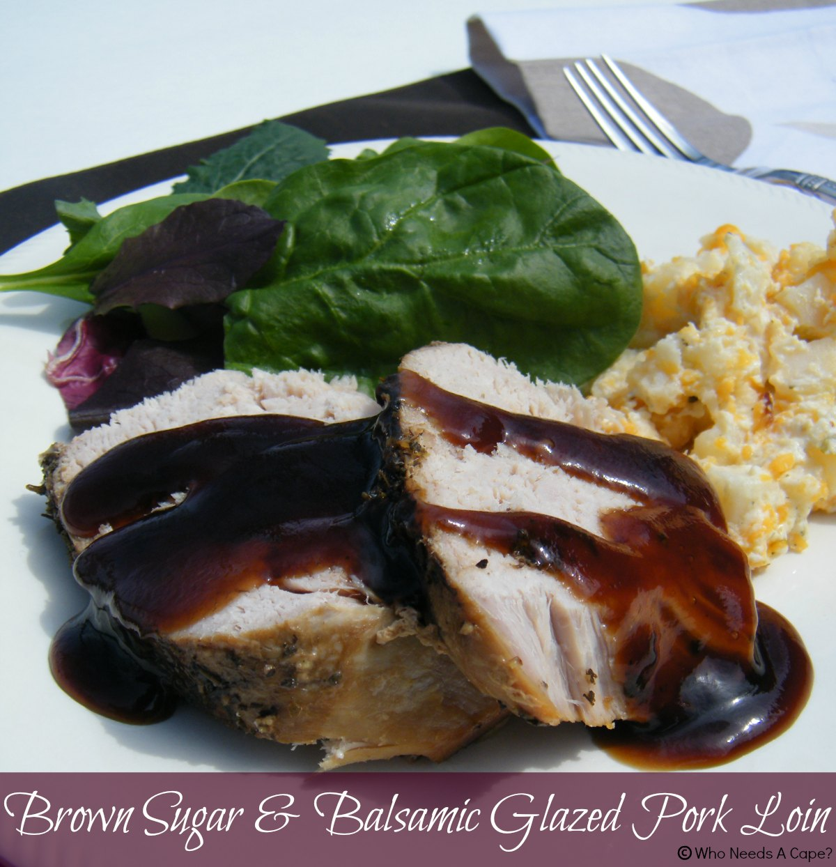 Slow Cooker Brown Sugar Balsamic Glazed Pork Loin Tender And Flavorful Slow Cooked Pork Glazed In A Sweet And Tangy Sauce That Will Not Disappoint