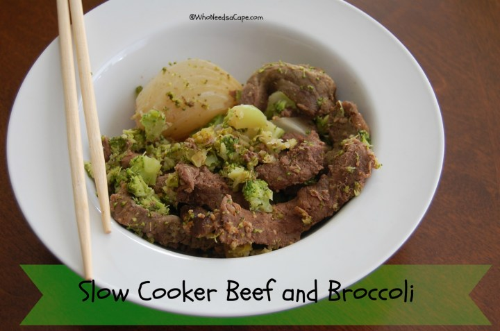 Make Slow Cooker Beef and Broccoli - it's easier and cheaper than take out! Makes a great freezer meal and is super fast to prep.