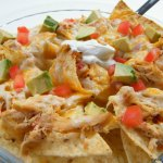 Nachos with Shredded Ranch Chicken
