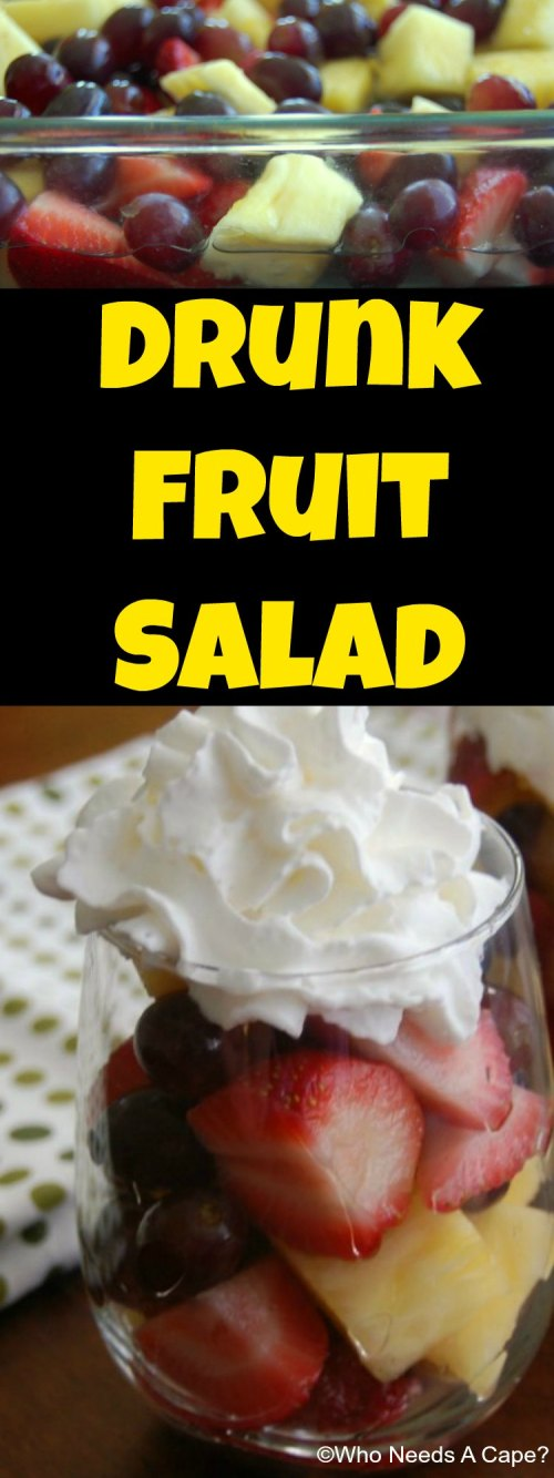 Make Drunk Fruit Salad for your next BBQ or Picnic as an adult only treat! Easier than bringing mixed drinks and everyone will love the flavor!