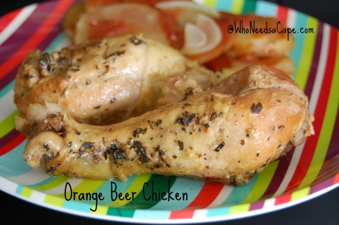 Slow Cooker Orange Beer Chicken is a great combination of flavors - your chicken will be a hit with any crowd! Throw on the grill too, so versatile!