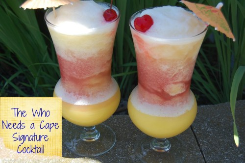 The Who Needs a Cape Signature Cocktail