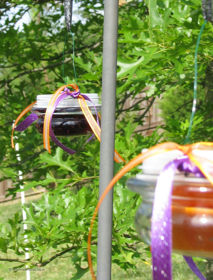 DIY Oriole Feeders — Repurpose your old candle lids to make feeders for your feathered friends!