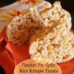 Pumpkin Pie Spice Rice Krispie Treats