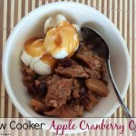 Slow Cooker Apple Cranberry Crisp