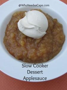 Slow Cooker Dessert Applesauce 2
