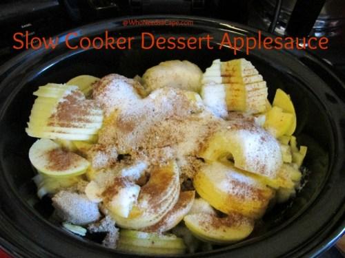 Slow Cooker Dessert Applesauce | Who Needs A Cape?