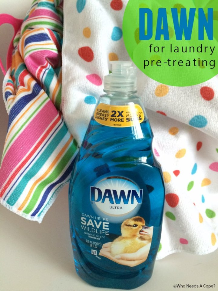 Everyone knows Dawn is remarkable or cleaning dishes, but find out how useful Dawn can be in pre-treating laundry stains. You'll be amazed.
