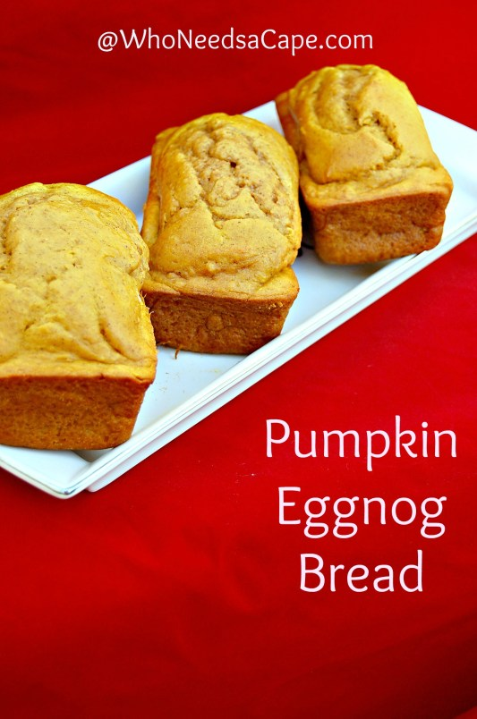 Pumpkin Eggnog Bread new