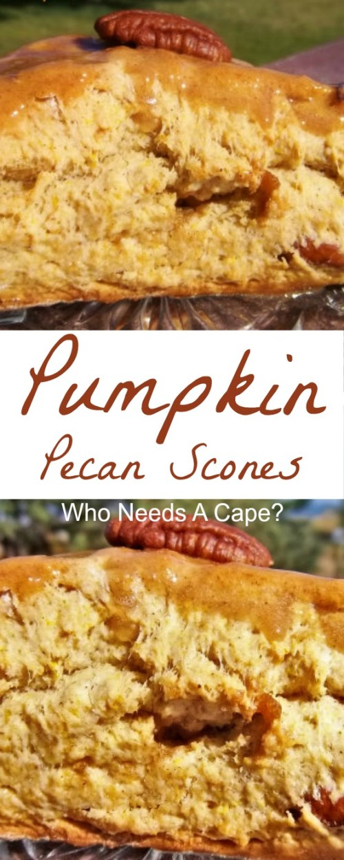 Pumpkin Pecan Scones with Maple Glaze are the perfect fall treat. Serve for breakfast or for dessert they are simply delicious.