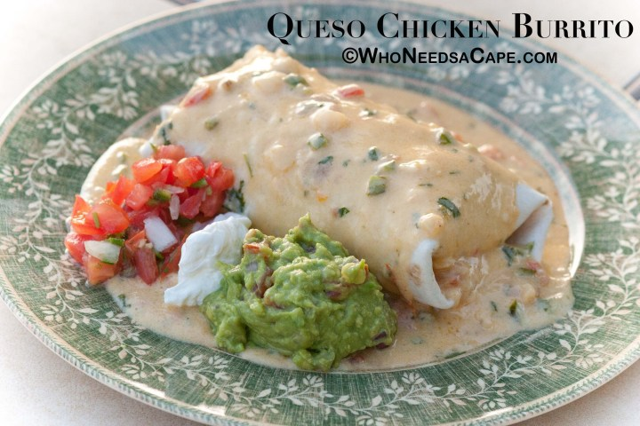 You know a meal is going to be good smothered in queso! Queso Chicken Burritos will knock your socks off, an amazingly delicious dinner!