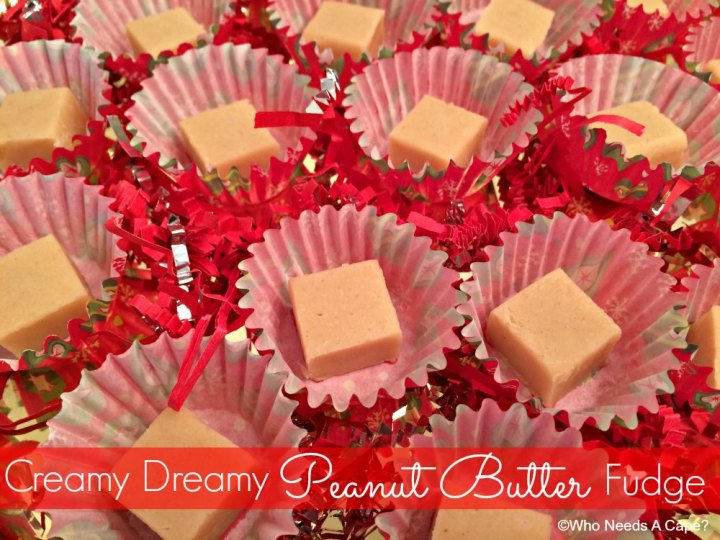 This Creamy Dreamy Peanut Butter Fudge is beyond delicious! Rich and creamy this will be one of your new favorite holiday creations for gift-giving.