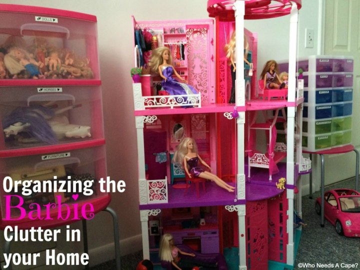 Use a Brother P-Touch to help with Organizing the Barbie Clutter in your Home. Make clear, easy to read labels for plastic storage units, kids can help too.