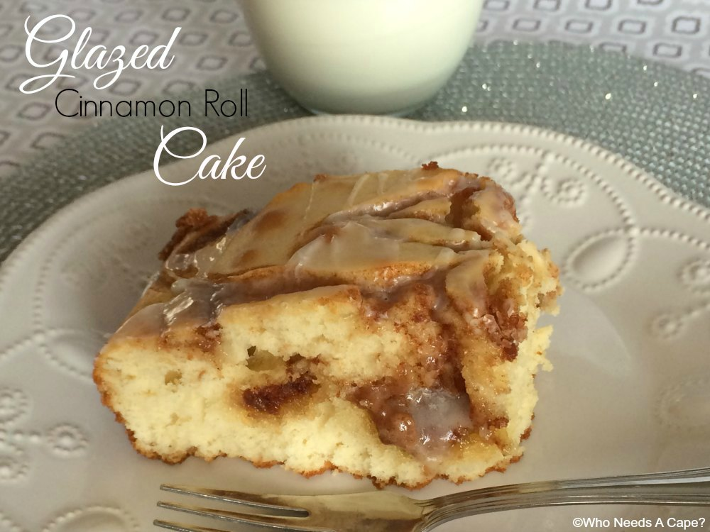 Looking for an easy dessert that is yummy? This Glazed Cinnamon Roll Cake is a definite crowd pleaser, serve with coffee for dessert perfection.