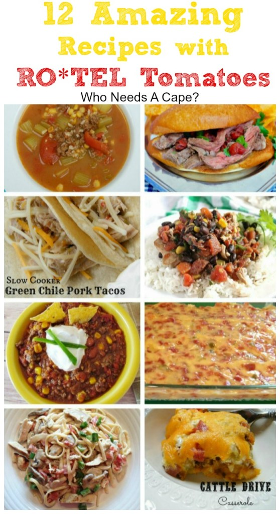 You'll want to check out all of these 12 Amazing Recipes with Ro*Tel Tomatoes! Something for everyone, soups, stews, and slow cooker dishes full of flavor.