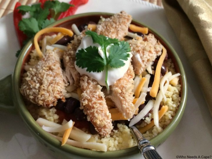 This 30 Minute Cheesy Chicken Fiesta Bowl is a great dish that you can easily create. With easy ingredients that taste great together, you'll love it.