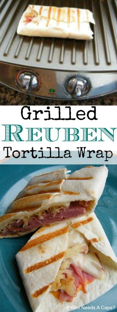 Grilled Reuben Tortilla Wrap | Who Needs A Cape?