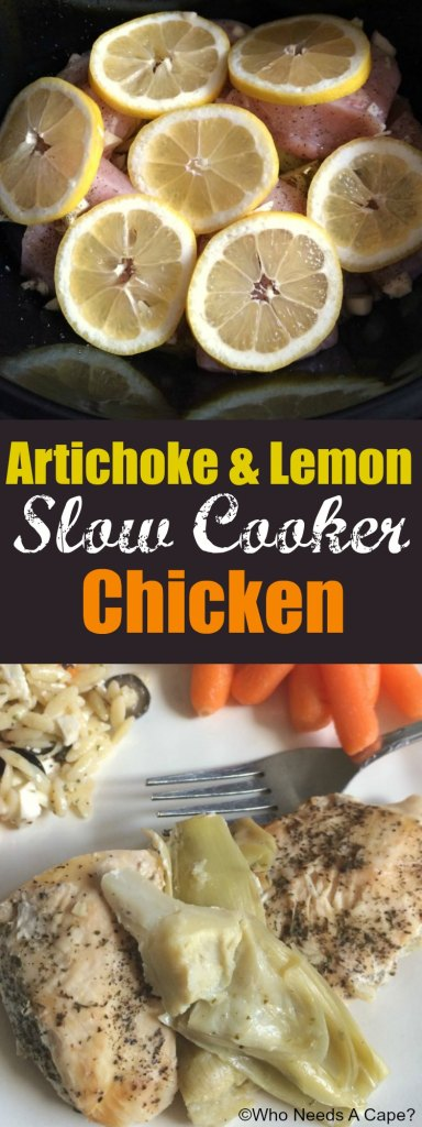 Artichoke & Lemon Slow Cooker Chicken | Who Needs A Cape?