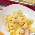 Baked Macaroni & Cheese with Ham