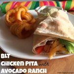 BLT Chicken Pita with Avocado Ranch