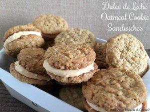 Dulce de Leche Oatmeal Cookie Sandwiches | Who Needs A Cape?