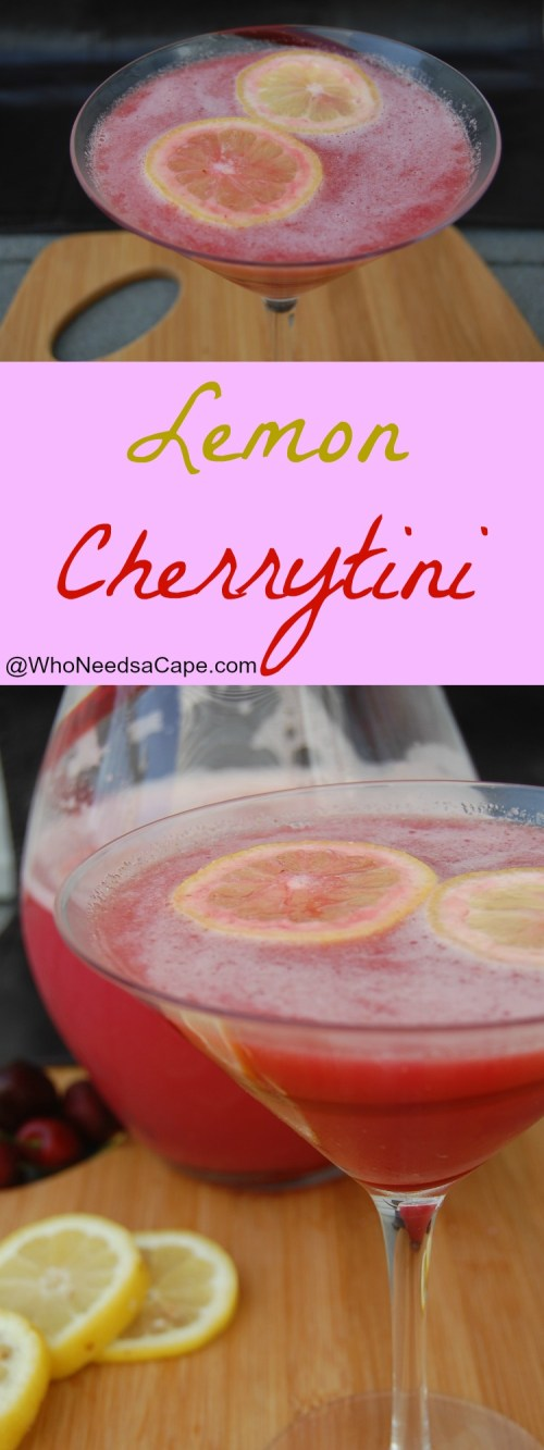 Lemon Cherrytini is a fabulous summer drink! This cocktail has flavors that everyone loves, perfectly refreshing and so delicious for parties and BBQ's.