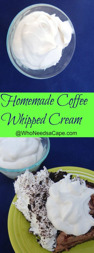 Coffee Whipped Cream