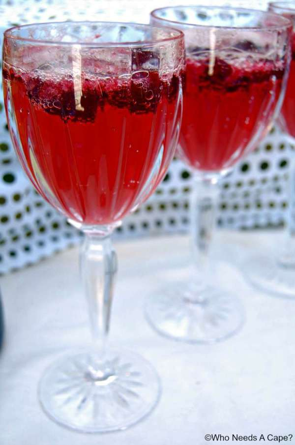 Summer Breezes Cherry Cocktail | Having an informal summer party? Make this delicious Summer Breezes Cherry Cocktail as your signature drink. Easy to prepare and deliciously drinkable.Who Needs A Cape?