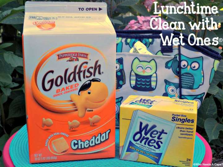 Lunchtime Clean with Wet Ones® | Who Needs A Cape?
