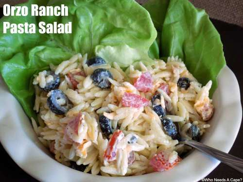 You'll love this Orzo Ranch Pasta Salad #FinestGrillathon for your next BBQ or summer party. So easy to prepare you'll be enjoying your guests in no time.