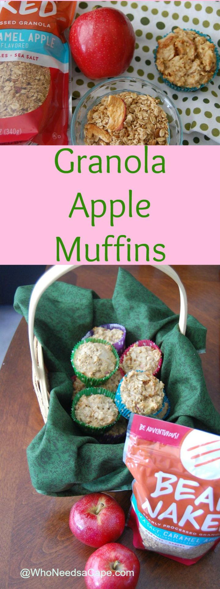 Granola Apple Muffins will perk up your breakfast and your lunch box!