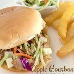 Apple Bourbon Pulled Pork Sliders with Slaw