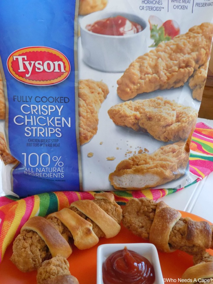 These Crescent Wrapped Chicken Strips are so easy to prepare using Tyson® Crispy Chicken Strips. Serve with a variety of dipping sauces they are great.