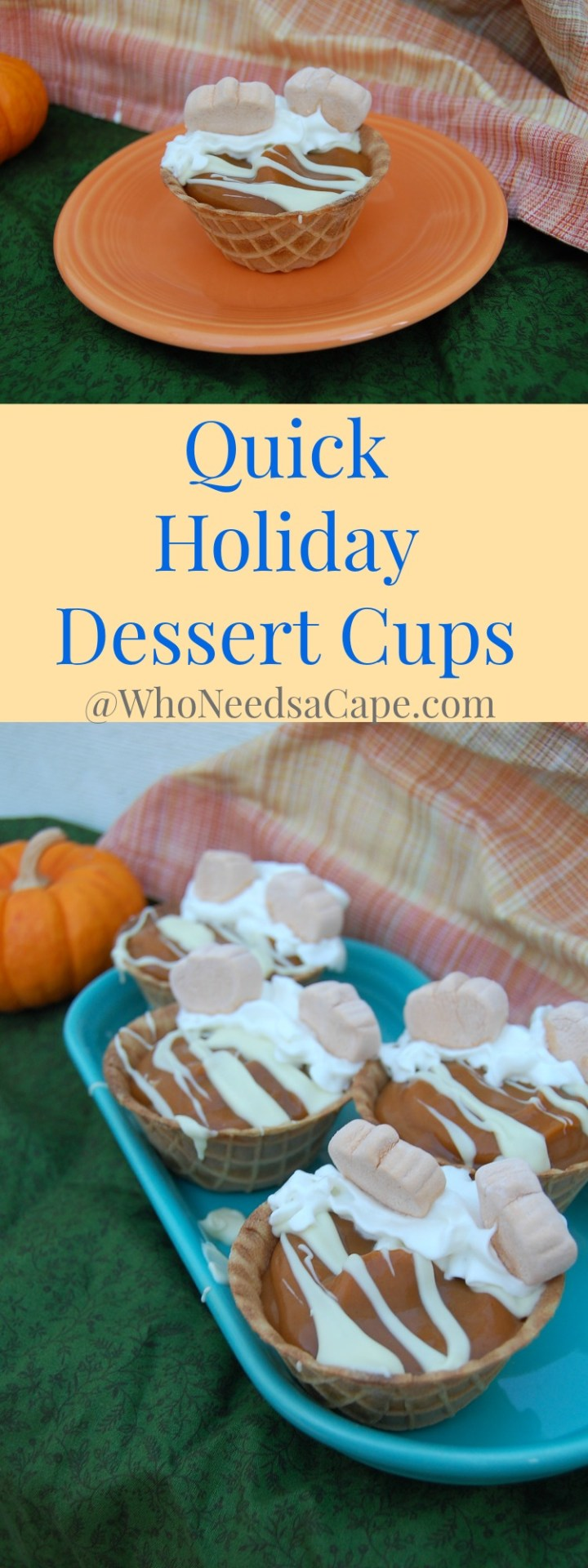 Quick Holiday Dessert Cups - perfect for an easy tasty dessert