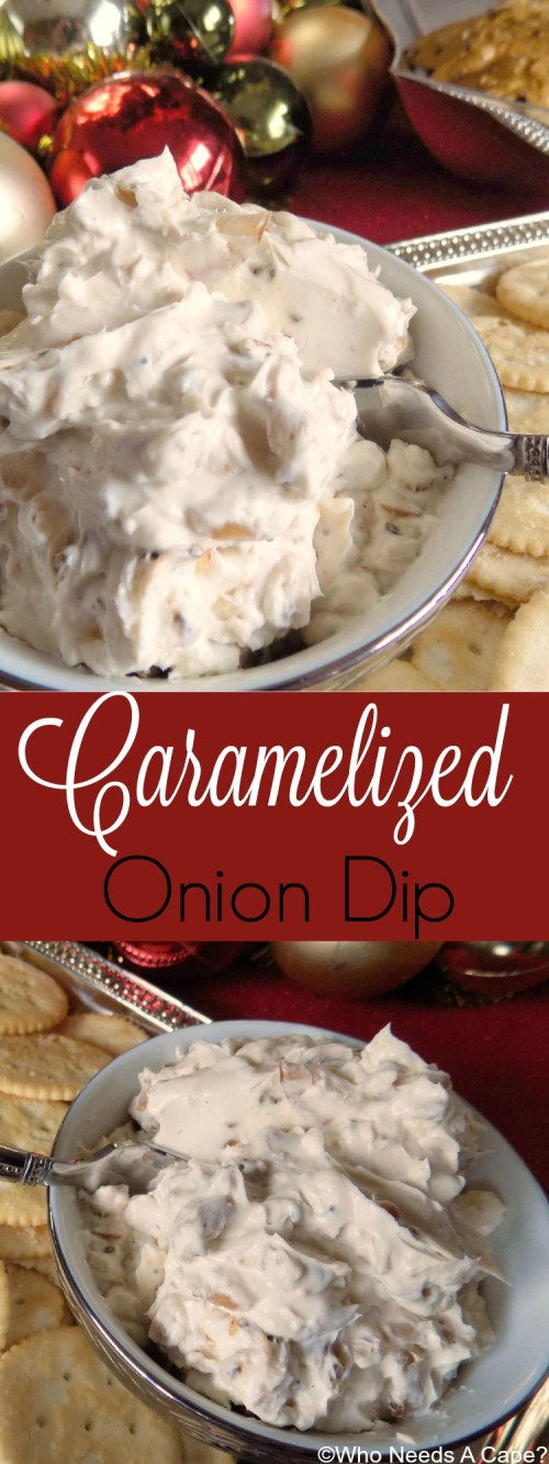 Need a tasty dip for holiday parties? Make this Caramelized Onion Dip, full of flavor and perfect for dipping. Make it ahead of time and refrigerate.