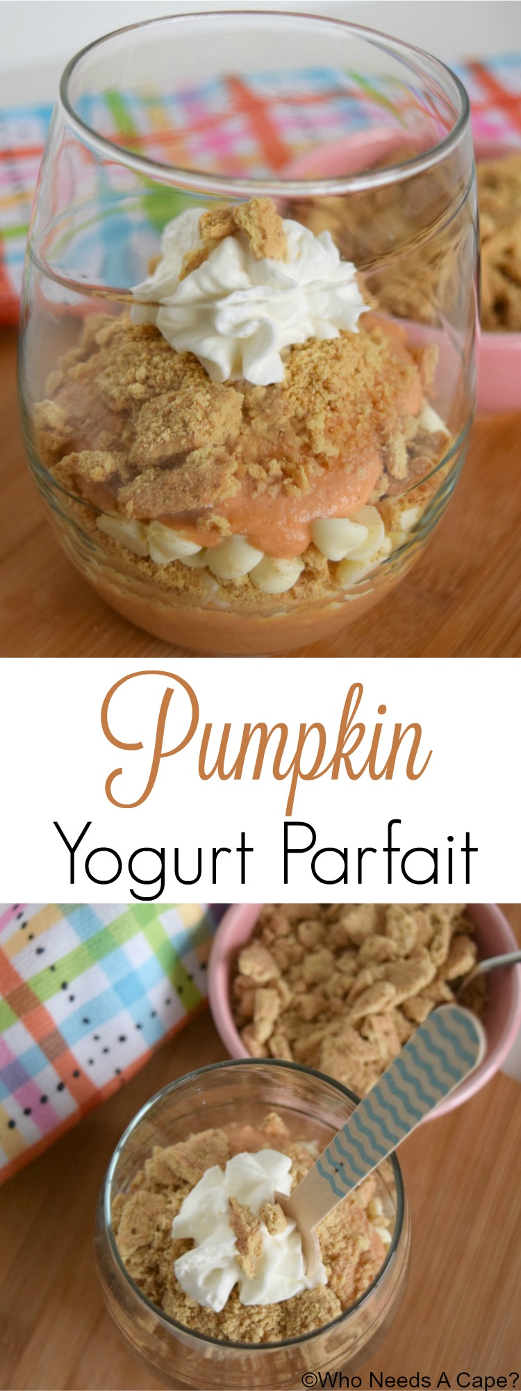 This easy to prepare Pumpkin Yogurt Parfait will satisfy your sweet tooth! Use your leftover holiday pumpkin puree, you'll have a easy snack in no time.