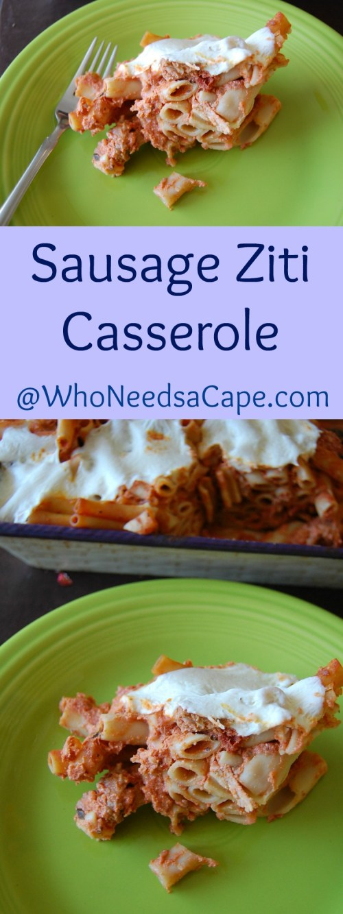 This Sausage Ziti Casserole is full of flavor and is always a family favorite. Simmered in tradition by using Ragu pasta sauce! Easy enough for weeknights.