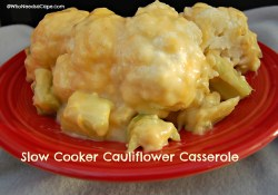 Slow Cooker Cauliflower Casserole