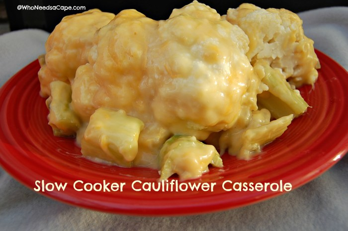 Slow Cooker Cauliflower Casserole 3