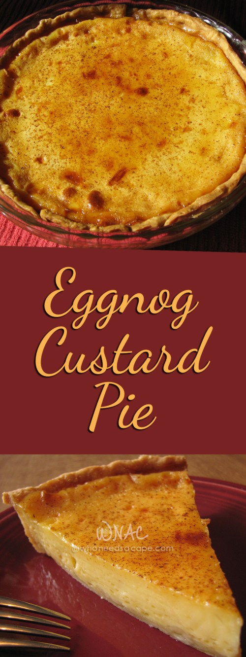 Eggnog Custard Pie is a great alternative to the usual holiday pie flavors. So easy to make, you'll love this dessert for the holiday season.