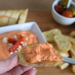Creamy Roasted Bell Pepper Dip