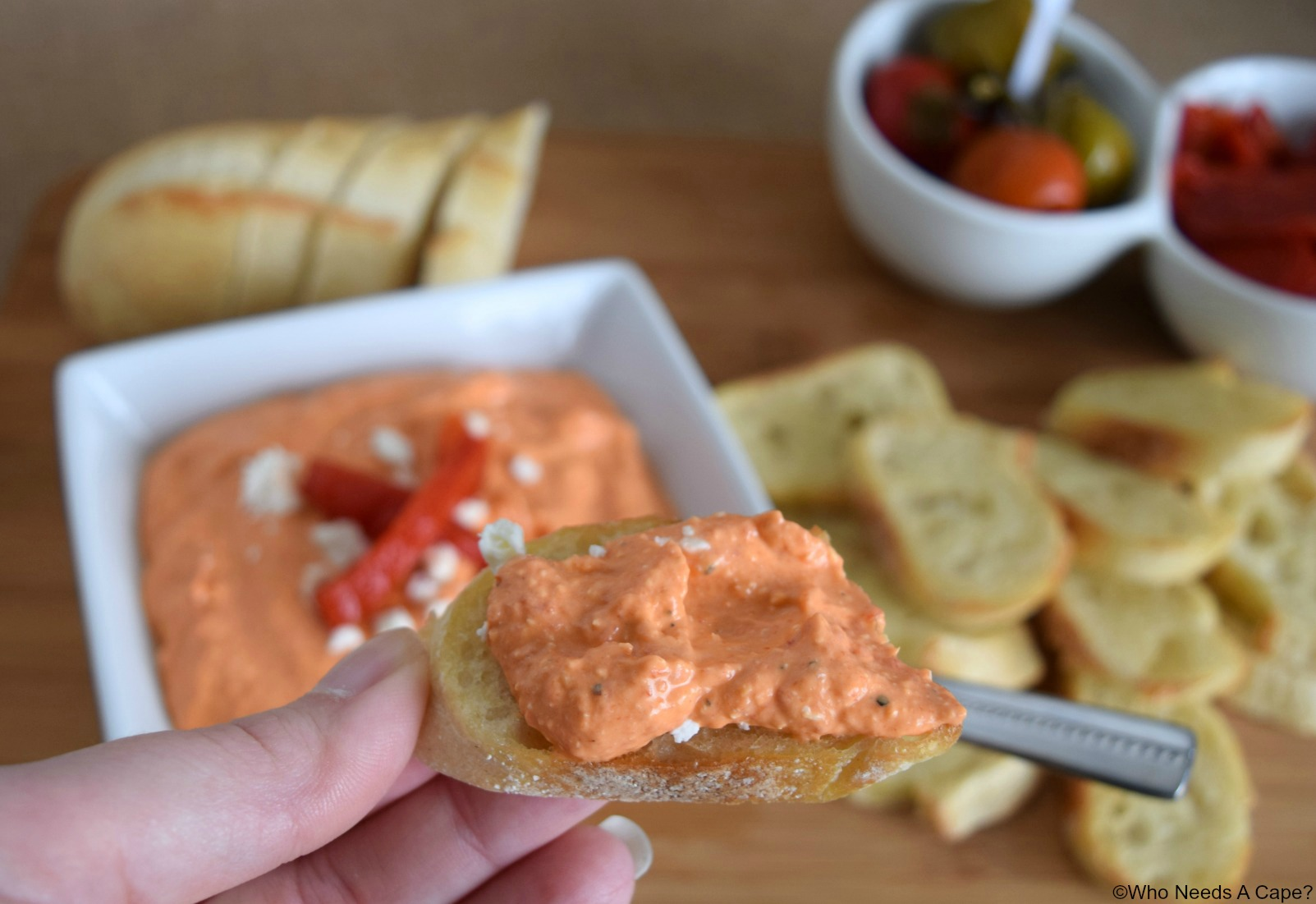 Creamy Roasted Bell Pepper Dip   Who Needs A Cape?