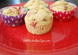 Peanut Butter Strawberry Muffins