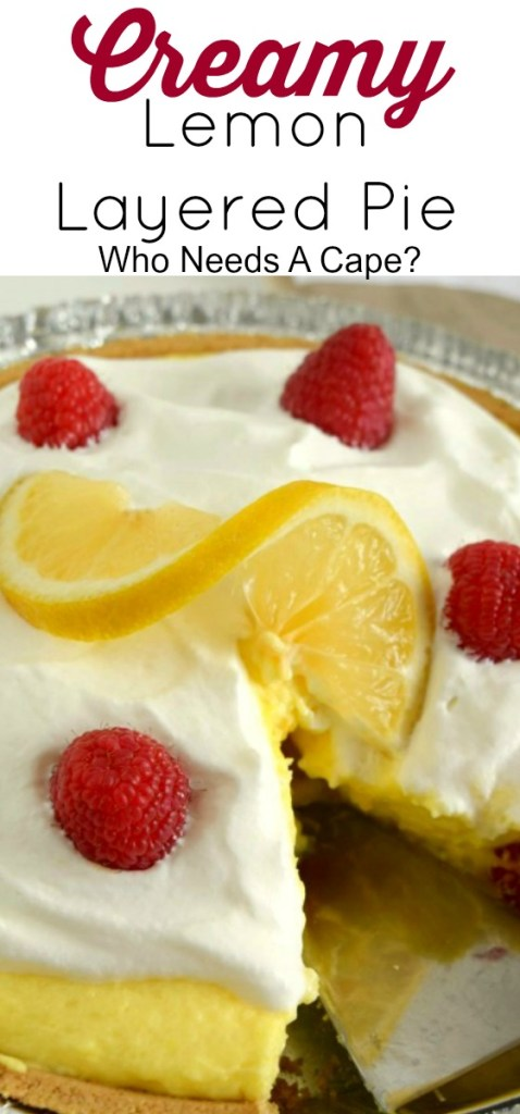Creamy Lemon Layered Pie is creamy, dreamy and delicious but also a breeze to make. A new no-bake dessert favorite at our house.