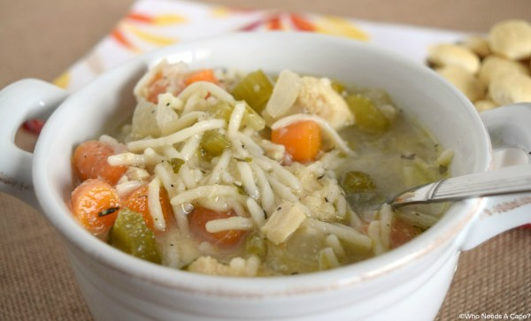 Have a bowl of this Slow Cooker Homestyle Chicken Noodle Soup, straight from your slow cooker. Comforting and warm, a great dinner that you'll love.