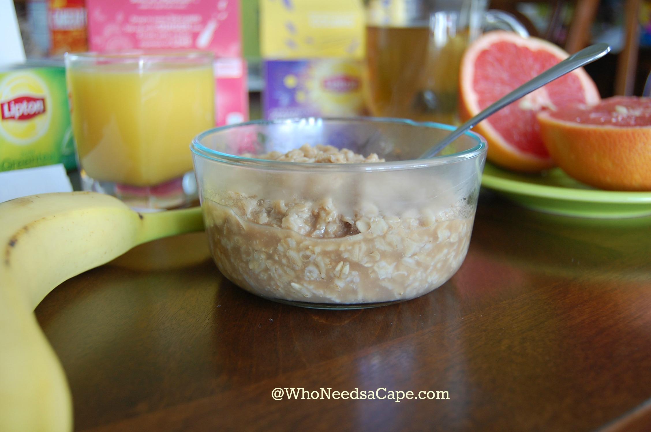 Tea Infused Oatmeal Breakfast