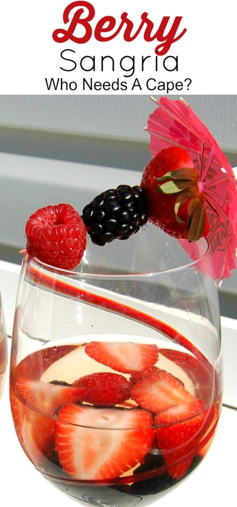 Berry Sangria is the perfect summer sipping cocktail - make it by the pitcher and you can serve it all night! Great for parties too!