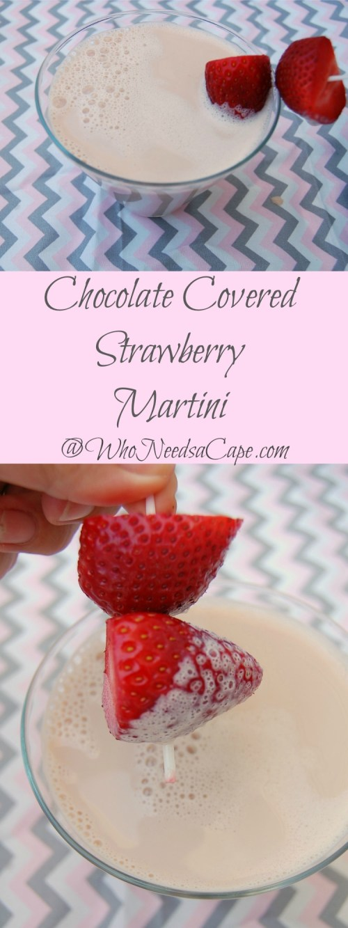 Have dessert in a drink with a Chocolate Covered Strawberry Martini - rich and delicious you'll fall in love with this cocktail at the first sip!